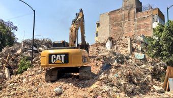 Concluye demolición de edificio afectado en la colonia Roma Sur por sismo