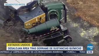 Desalojan área tras derrame de sustancia química en EU