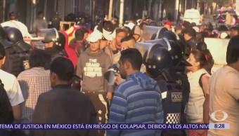Desalojan predio en la calle Uruguay, Centro Histórico de la CDMX