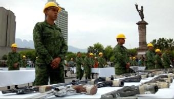 Ejército destruye más de 3 mil armas en NL