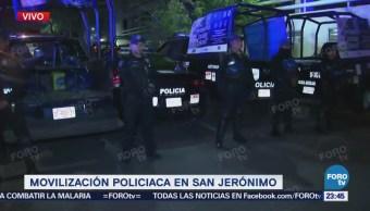 Detenidos por balacera en San Jerónimo son trasladados a la PGJCDMX