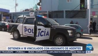 Detienen a 18 presuntos implicados en asesinato de elementos de la AIC