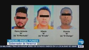 Detienen a 3 sujetos por muerte de policía en Veracruz