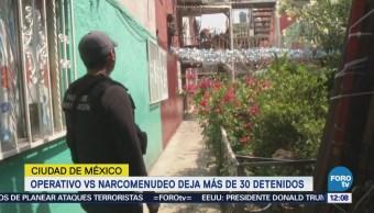 Detienen a 30 personas por narcomenudeo en la colonia Morelos, CDMX