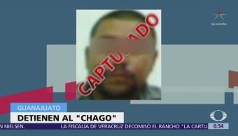 Detienen en Guanajuato a 'Chago', líder de banda que cometió masacre en palenque