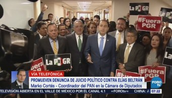 Diputados promueven denuncia de juicio político contra Elías Beltrán