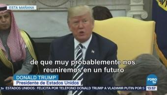 Donald Trump Tendrá Reunión Putin Próximamente