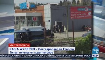 Dos heridos en toma de rehenes en supermercado en Francia