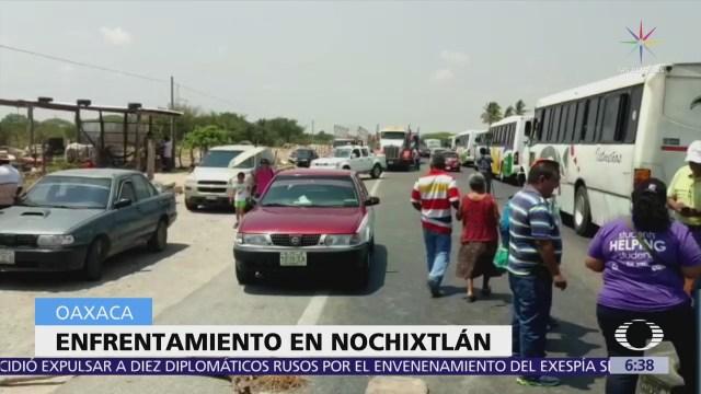 Dos heridos por enfrentamiento de pobladores con autoridades en Nochixtlán, Oaxaca