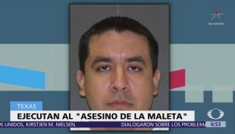 Ejecutan al llamado 'asesino de la maleta' en Texas