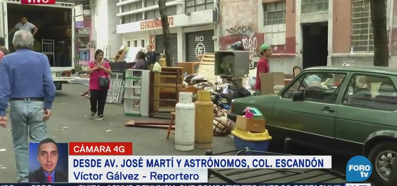 Ejecutan Desalojo Departamentos Colonia Escandón, Cdmx