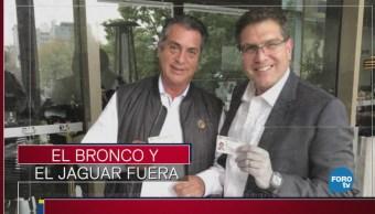 El Bronco y el Jaguar, fuera