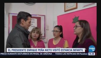 El presidente Enrique Peña Nieto visita estancia infantil