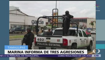 Emboscan a marinos en Nuevo Laredo, Tamaulipas; hay un muerto y 12 heridos