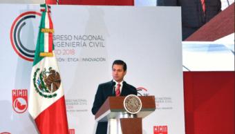 Desarrollo de infraestructura, forma tangible de medir progreso, dice EPN