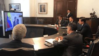 Peña Nieto analiza objetivos arancelarios de Alianza del Pacífico, en videoconferencia