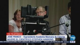 Muerte de Stephen Hawking causa tristeza a la comunidad científica
