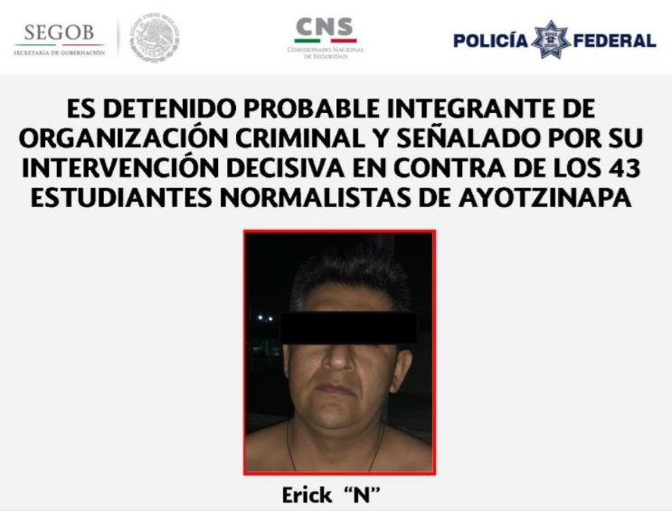 Detienen a hombre vinculado con desaparición de 43 normalistas de Ayotzinapa