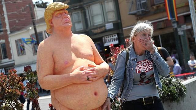 Estatua de Donald Trump desnudo será subastada en Nueva Jersey