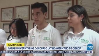 Estudiantes de Campeche ganan concurso latinoamericano de ciencia