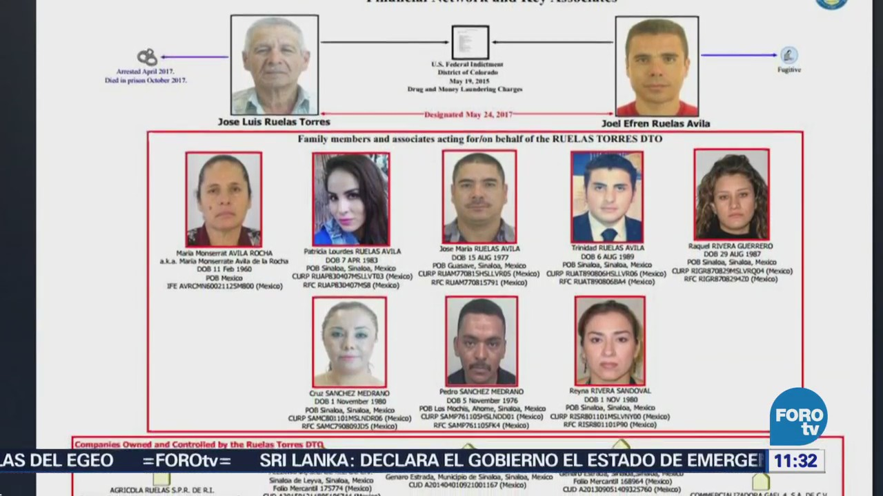 EU impone sanciones contra empresas vinculadas al cártel de los Ruelas