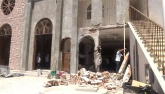 Explosión de pirotecnia en templo de Silao, Guanajuato, deja una persona lesionada