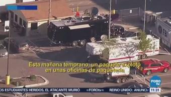 Explota paquete bomba en una empresa de mensajería en Texas