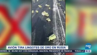 Extra Extra: Avión tira lingotes de oro en Rusia