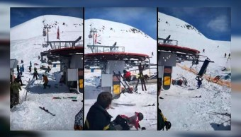 Falla en estación de esquí lanza a pasajeros por los aires en Georgia