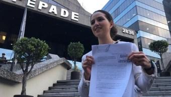 representante margarita zavala presenta denuncia firmas falsas