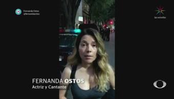 Fernanda Ostos denuncia agresión seFernanda Ostos denuncia agresión sexual en la Condesaxual en la Condesa