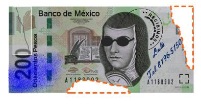 Billete-Roto-Billete-Rayado-Dinero-Maltratado-Banco-México