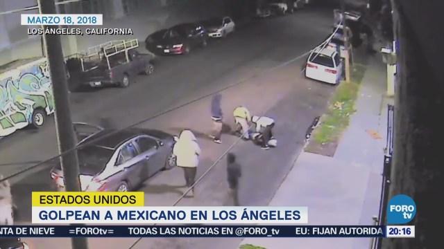 Golpean a mexicano en Los Ángeles