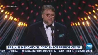 Guillermo del Toro brilla en premios Oscar por 'La forma del Agua'