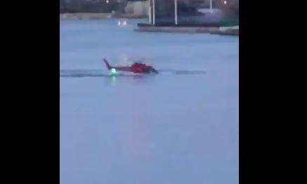 Helicóptero cae en río Este en Nueva York