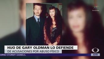 Hijo mayor de Gary Oldman lo defiende de acusación de maltrato