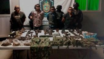 detienen armas drogas guerrero explosivos policia