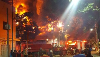 incendio consume fabrica telas colonia anahuac