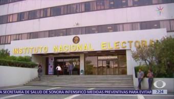 INE aprobó informes de gastos de precampaña de Anaya, Meade y AMLO