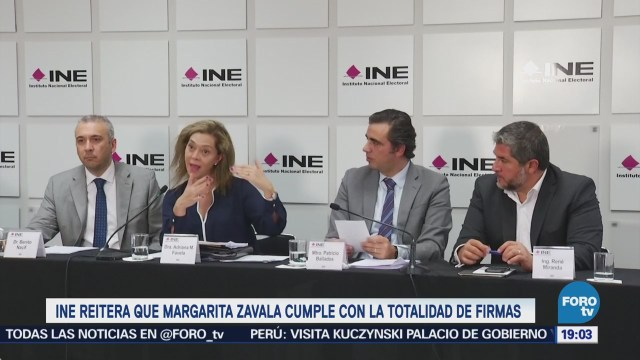 INE ratifica que Margarita Zavala cumple con requisito de firmas