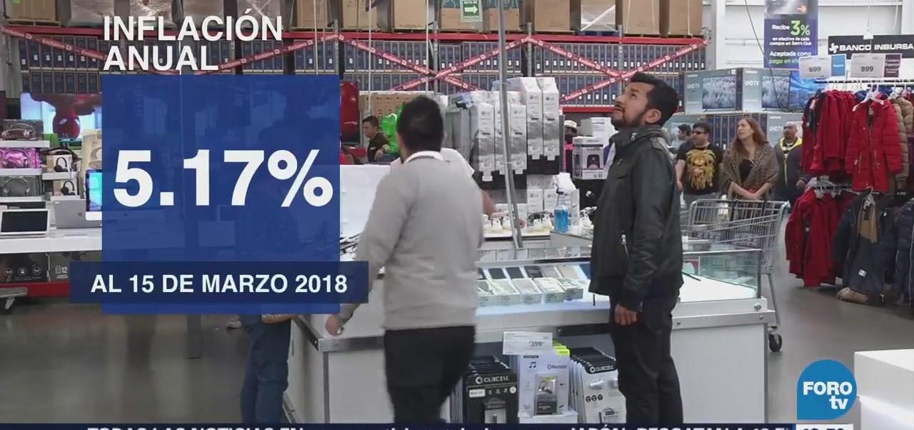 INEGI: Precios al consumidor suben 0.29% en la primera quincena de marzo