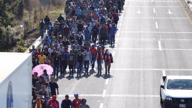 Inicia éxodo de centroamericanos en Chiapas hacia EU
