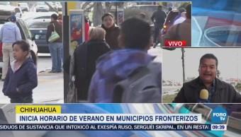 Inicia Horario Verano Municipios Fronterizos