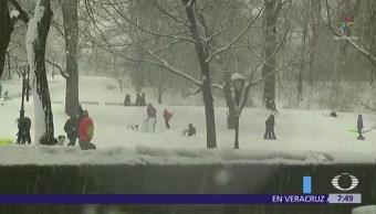 Inicia la primavera con tormenta de nieve en noreste de Estados Unidos
