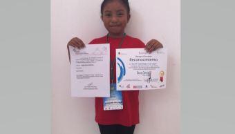 Instituto de Ciencia Nuclear reconoce a niña chiapaneca