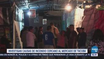 Investigan causas de incendio cercano al mercado de Tacuba