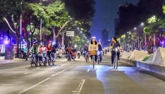 invitan a paseo nocturno en bicicleta en la cdmx