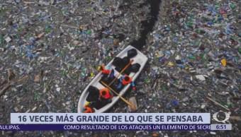 Isla de basura del Pacífico es 16 veces más grande de lo pensado