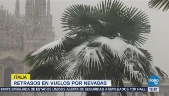 Italia registra nuevamente fuertes nevadas