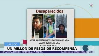 Jalisco ofrece recompensa por información sobre alumnos de cine desaparecidos